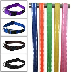 2015 hot sale nylon collar dog with reflective yarn in large stock