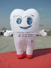 2012 Top Hot Sale Popular Lovely Teeth inflatable moving cartoon for advertising