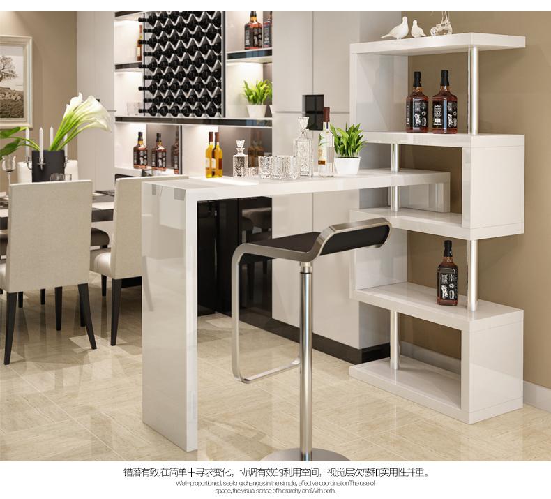 Luxury White High Gloss Home Furniture Design Coffee Bar