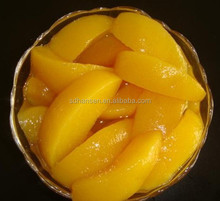 425g organic canned yellow peach in regular slices