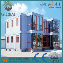 cheap prefab container house as movable hotel/villa/toilet