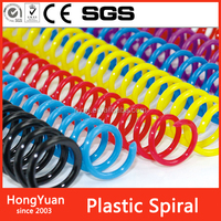 Book Binding Metal Spiral , Plastic Spiral Coil Wire