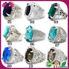MOQ100pcs of each size 2015 crytal stainless steel rings mens variety