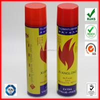 purified lighter gas refill valve/usa butane gas wholesale 300ml