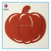 wholesales artificial laser cut felt halloween pumpkin
