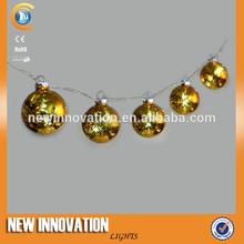 las luces led cadena de la bola de cristal decoración de navidad árbole