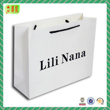 White Kraft Paper Shopping Bags Wholesale