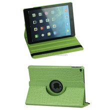 smart case PU Cover for ipad Mini 360 degree Swivel Case Crocodile Pattern Printing