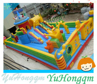 Cute Inflatable Amusement Park Inflatable Funcity Games In Holiday Palyground