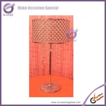 k4350 Latest wedding decorationtall wedding crystal pillar stand&flower stand centerpieces