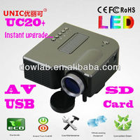 Promotion!!!UC20+ 1080P support china portable cheapest projector