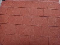 ASTM Laminated Red Asphalt Roof Shingle Made from Glass Felt