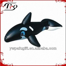inflatable ride-on black whale