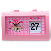auto flip desk clock with calendar