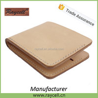 handmade natural vegetable tanned leather wallet