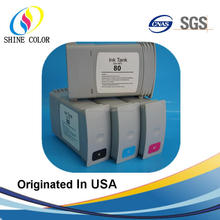 350ML for HP 80 compatible dye ink cartridge for HP Desigjet 1000 1050 1055 C4846A C4847A C4848A C4871A