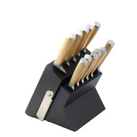 11pcs Kitchen Knives With 3CR13+Beech Wood+Forged