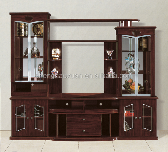 India market living room furniture lcd tv wall units 808 for Wall showcase designs for living room indian style