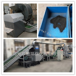 industrial Professional work flow tire shredding machine line with ideal solution