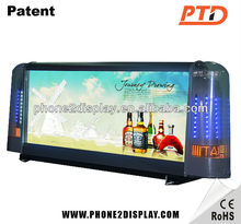 Wireless remote outdoor double sided led sign taxi