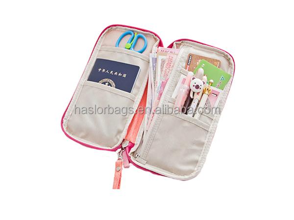 Gros nouveau Style jeune fille à la mode Passport Zipper souple voyage portefeuille