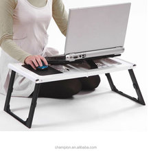 Automatic adjustable laptop desk ,two fans height adjustable laptop table