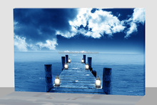 Wall Art with LED Lights Canvas Print Lighted Candle Picture ,light up wall art