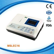 3 Channel Digital Portable EKG Machines / Cheap ECG Machine MSLEC16H