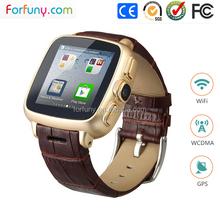 Custom smart mobile watch phones with Android 4.4 3g wifi gps camara