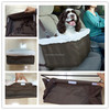 Comfortable fleece pet dog carrier dog safety bag on car dog booster seat wholesale