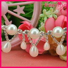 Wholesale fashion crystal peal rhinestone cup chain decoration for accessories WRC-328