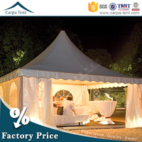 beach gazobo seaside event pvc coat 6*6 pagoda tent