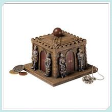 Classic medieval knights castle treasure jewelry box