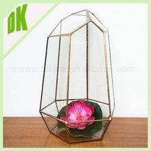 We have 68 design of geometric glass vase for optional ** Clear Glass decorative cylinder aluminum vase