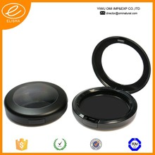 051 Professional black compact powder container packaging round compact powder case