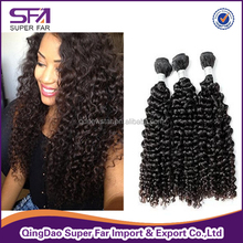 Grade 6a afro curl virgin brazilian human hair extension with low price