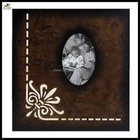 Vintage indian wedding photo album cover design