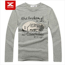 Wholesale chinese thick plain white men long sleeve t-shirts online shopping