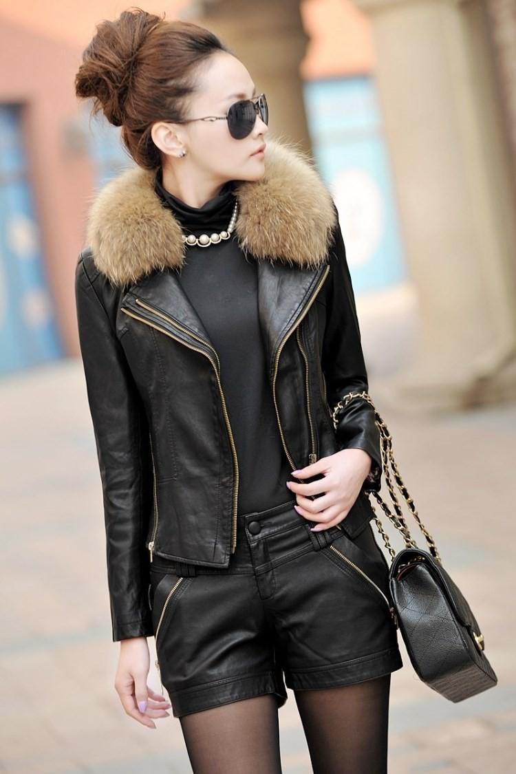 Женская одежда из кожи и замши casacos /4xl