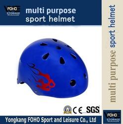 HE005 EPS inner and Protection blue printing sport safty helmet