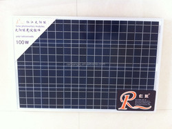 RJ solar panel factory 100w solar panel polycrystalline solar cell 156*156 36pcs 12v poly silicon solar panel RSM36-156P-100w