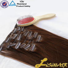 2016 Best Selling Thick End Wholesale packaged human clip hair extentions