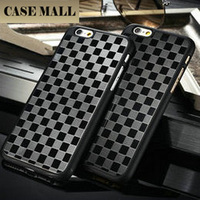 """Chess Board Pattern Aluminum+PC Back Case for iphone 6, for iphone 6 4.7"""" Supporting 50pcs mix images"""
