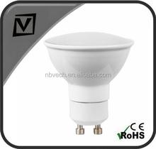 400lm 5W GU10 2835SMD LED spotlight Ra>80, IC driver, white aluminium housing led lighting