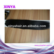 Black Straight Virgiin Remy Chinese human hair weft micro braids for weaving