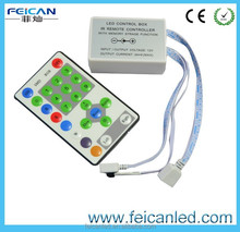 DC5V,12VOptional/ 5V:<135W, 12V:<324W IR Remote 25 Key Chasing Running Strip RGB LED Controller