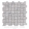 Blanco mate armadura de cesta de mármol mosaicos bathroom floor tile home depot
