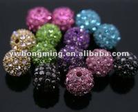 Various Color Available 8MM Shamballa crystal beads!!Crystal Rhinestone clay beads!!