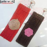 Popular Handmade Knit Crochet Rose Flower Woman's Headband