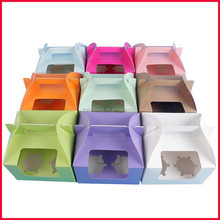 China factory wholesale paper cupcake box